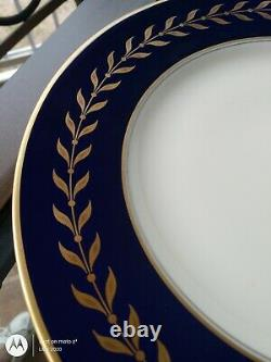 Syracuse China Queen Anne Cobalt Blue Gold Beautiful Service Set for 8