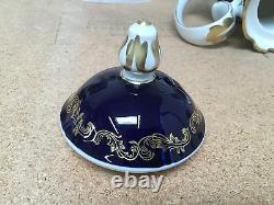 Teapot Coffee Pot & Lid in 8159k by Reichenbach Blue Cobalt Gold Trim