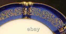 Theodore Haviland #h497 (6) Dessert Plates Cobalt And Gold