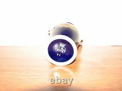 VINTAGE RARE LIMOGES LA REINE PORCELAIN FRANCE COBALT BLUE 22Kt Gold 5.5 VASE#9