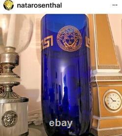 Versace Vase Gold Medusa Greek Key 10 Rare Retail $800 Discontinued Sale