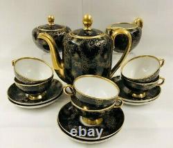 Vintage 15-Piece Bavaria/Germany Cobalt Blue and Gold Tea / Coffee Set Service
