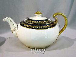 Vintage AYNSLEY TEA LUNCHEON SET COBALT BLUE & GOLD