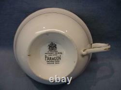 Vintage Paragon Cobalt Blue Rose Bouquet Teacup & Saucer Heavy Gold