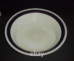 Wedgwood Imperial Porcelain Pitcher & Wash Bowl Basin Set Cobalt & Gold C. 1906