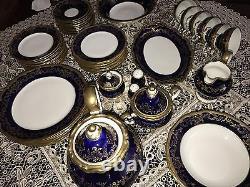 Weimar Katharina Cobalt Blue Gold (20003) Full Dinner Set! (12people). Gorgeous