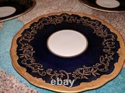 Weimar Katharina Cobalt Blue Gold 7168 38 Full Dinner Set! 12 people 64 pieces