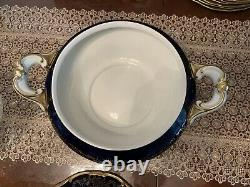 Weimar Katharina Cobalt Blue & Gold Soup Tureen with Lid. Excellent Condition