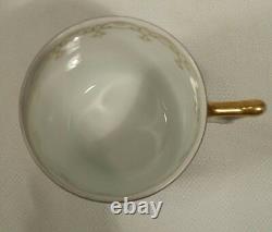 Ancienne Royal Vienna Portrait Demitasse Tea Cup Élégante Cobalt Or