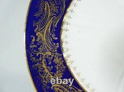 Antique 1900 Wedgwood Bone Chine 7pc Teaset Tea Set Trio Cobalt Bleu Or Y6090