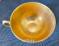 Antique Coalport Cobalt Blue Gilded Gold Cup & Soucoupe C. Années 1890