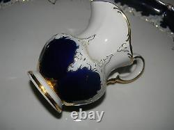Antique Meissen Cobalt & Gold Thé / Café Set 8 Pc W / Plateau