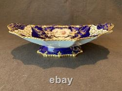 Aynsley Aristocrat Cobalt Blue Footed Compote Handled Bowl Gold Tazza 11 Lire