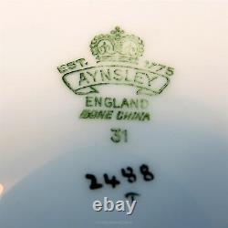 Bleu Cobalt Et Or Frontière Avec Signé Ja Bailey Floraux Aynsley Tea Cup & Saucer