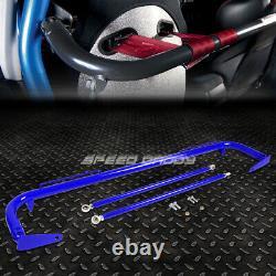 Blue 49stainless Steel Chassis Harness Bar+gold 4-pt Strap Buckle Ceinture De Sécurité