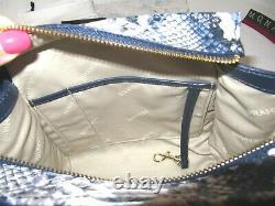 Brahmin Mini Priscilla Cobalt Blue Ballington Exotic Crossbody Sac Sacoche 325 $