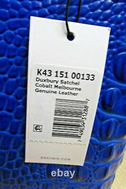 Brahmin Moyen Duxbury Rich Cobalt Deep Bleu Melbourne Sac À Main Dôme En Cuir