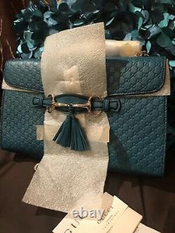 C'est Pas Vrai! Nouveau Gucci 449635 Cobalt Micro Gg Guccissima Cuir Emily Purse Sac À Main