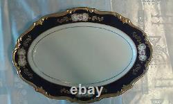 Echt Cobalt 93 Pc Vtg Allemand Reichenbach Fine China Porcelaine Echt Cobalt Or