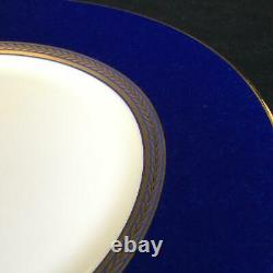 Ensemble Parfait De 4 Assiettes De Salades Bleues Wedgwood Renaissance Gold 8 Cobalt