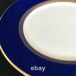 Ensemble Parfait De 8 Assiettes De Salades Bleues Wedgwood Renaissance Gold 8 Cobalt