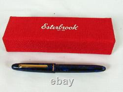 Esterbrook Estie Cobalt Blue Gold Trim Fountain Pen, Résine Bleue, E156 M