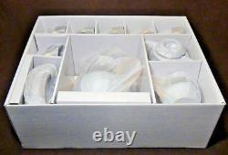 Euro Porcelain 17-pc Floral Tea Set For 6 Original Cobalt Tableware 24k Or
