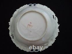 Flow Bleu Porcelaine Porcelaine Ensemble Lg Bol 4 Sm Cobalt, Or Allemagne Ipf Années 1900
