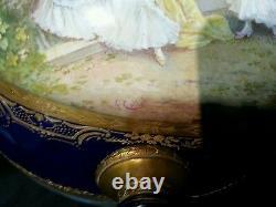 Français Sèvres Pièce Maîtresse A. Collot Bleu Cobalt Boucher Romantique Gold Gilt