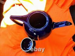 Halls Vintage 1939 World's Fair Cobalt Blue Teapot Gold Trylon And Perisphere