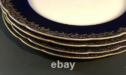 J MC D & S Co. Boston J. Pouyat Limoges 8.5 Cobalt Blue &gold Plates Florales 4