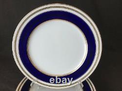 Lenox E66b Tiffany & Co Dinner Plate Cobalt Blue Gold Incrusted Antique Set Of 7