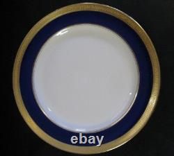 Lenox Ovington China 8 J19k Cobalt Blue - Or Encrusted Salad Plates C 1912