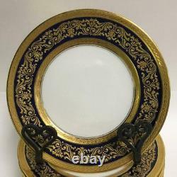 Limoges Bernardaud B&co Cobalt Blue & Gold Dessert Plates Ensemble De 11