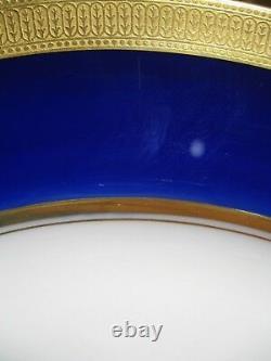 Lot De 10 Lenox Ovington China J19k Cobalt Blue - Or Encrusted Plates C1912