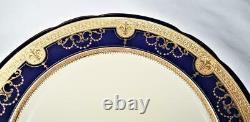 Minton Chine Pour Tiffany & Co. G9180 Cobalt Bleu & Or Plaque Incrustée 8 7/8