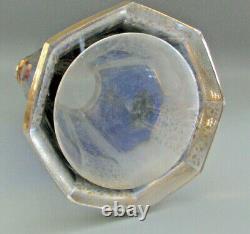 Moser Cobalt Blue Lemonade Pitcher Bohemian Cabochon Panel Verre 1910 Ère