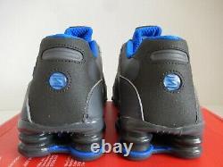 Nike Shox Nz Se Dark Grey-metallic Gold-hyper Cobalt Blue Sz 9.5 833579-004