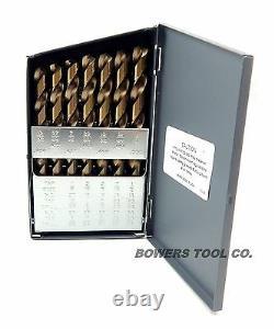 Norseman 29pc Cobalt M42 Drill Bit Set 1/16-1/2 Longueurs Jobber Made In USA D-29