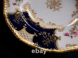 Panneau De Coalport Cobalt X1002 Gold Center - Plaque De Déjeuner 9 1/4- Rare! Excellent
