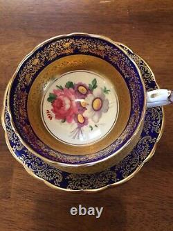 Paragon Cobalt Équipement Violet Saucer Mary Rose Boouquet Double Garantie D'or Ce