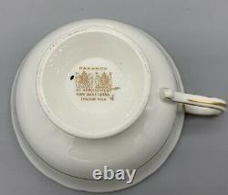 Paragon Double Warrant Cobalt Blue Gold Sweet Pea Flowers Cup Soucoupe Set Mint