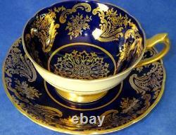 Paragon Exquisite Cobalt Blue Rich Gold Fine Bone China Cup & Soucoupe