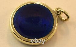 Pendentif En Amarel Bleu De Cobalt Blanc En Or Blanc 14k