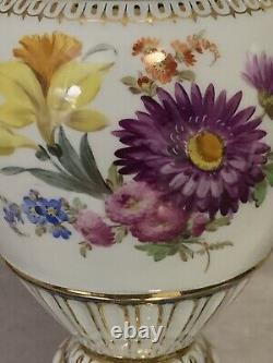 Poignée De Serpent En Porcelaine Peinte À La Main Meissen Large Vase Urn Colbalt Blue