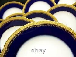 Rare 10 Schleiger Haviland H3376 Gold Incrusted Design On Cobalt Blue Soup Bowls Rare 10 Schleiger Haviland H3376 Gold Incrusted Design On Cobalt Blue Soup Bowls Rare 10 Schleiger Haviland H3376 Gold Incrusted Design On Cobalt Blue Soup Bowls Rare