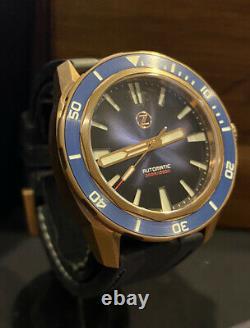 Rare 1 Des 250 Zelos Swordfish Cobalt Blue Bronze Automatic Divers Watch Box Set