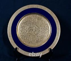 Rare Antique Lenox Cobalt Blue & Gold Smooth 1830v58b1 Assiette 10 1/2 Menthe