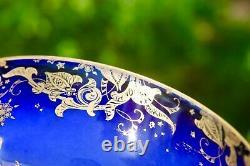 Rare Haviland Limoges Marque H & C Servant Le Cobalt D'or Floral Vegétable Bowl