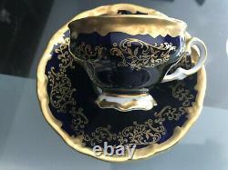Rare Weimar Allemand Gilded Cobalt Katharina 6208(14 Pc)démitasse Set -voir Détails